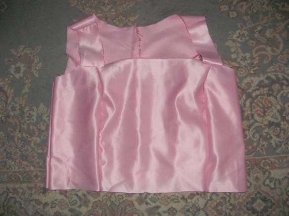 Front of the new bodice without the skirt