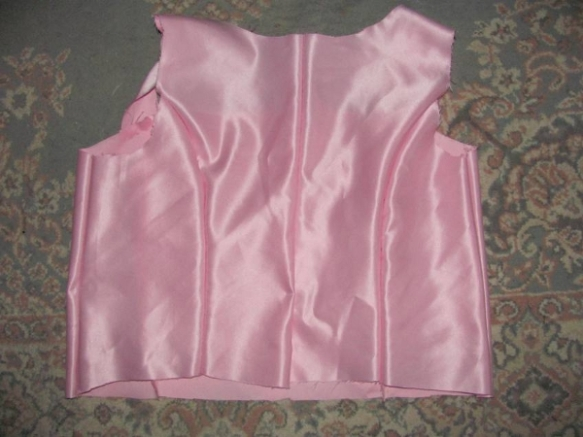 Back of new bodice without the skirt