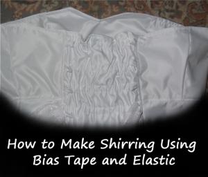 shirring tutorial button