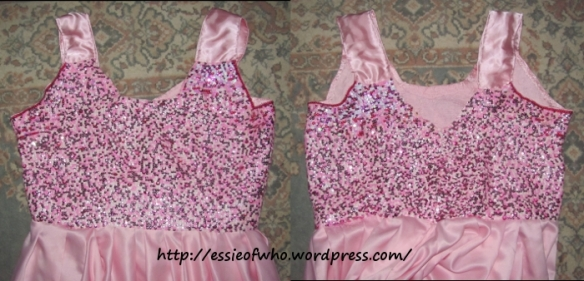 First version of the bodice, front and back