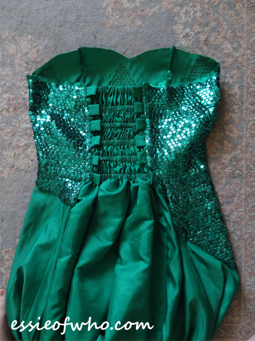 elsa frozen fever sequin sewing progress 2